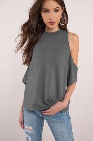 cold shoulder tops grey blouse cold shoulder blouse half shoulder