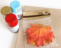 Fall Homemade Decorations - unique fall crafts leaf stenciled canvas diycandy com