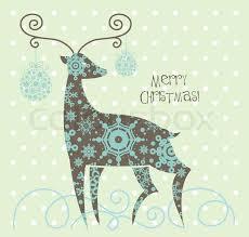 christmas deer christmas reindeer stock vector colourbox