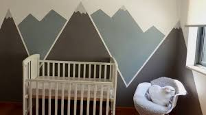 mountain mural baby room youtube