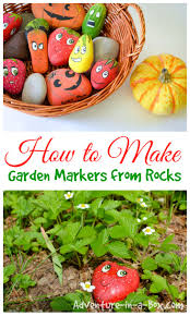 Gardening Crafts For Kids - how to make garden markers by painting stones markers rock and