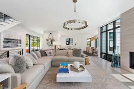 hamptons living room white couches white paint design interior