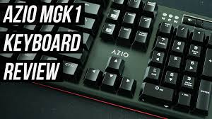 Minimalist Keyboard Azio Mgk1 Mechanical Gaming Keyboard Review Sub 100 Kailh Blue