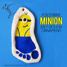 footprint minion salt dough ornament i arts n crafts