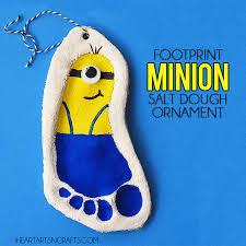 footprint minion salt dough ornament i arts n crafts