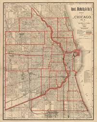 Maps Of Chicago by Antique Map Of Chicago By Rand Mcnally 1890 Hjbmaps Com