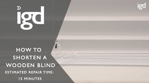 Shortening Faux Wood Blinds Wooden Blinds Direct How To Shorten A Wooden Blind Youtube