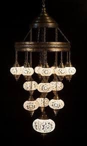 Morrocan Chandelier Large 17 Glass Globe Turkish Moroccan Chandelier Lighting Fixture