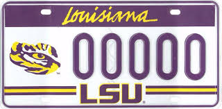 lsu alumni license plate reserve your lsu license plate