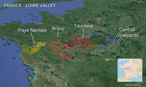 Nantes France Map by Map France Wine Regions U2014 Tenzing
