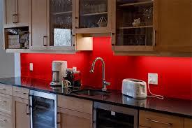 Red Painted Backsplash  Affordable Painted Backsplash  Home - Backsplash paint ideas