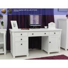 Pedestal Computer Desk Hton White Painted Double Pedestal Computer Desk 2 Jpg