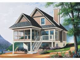 basement vertical walkout basement house plans in wood and stone