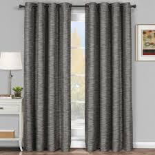 Hotel Room Darkening Curtains Galleria Gray Silver Grommet Blackout Window Curtain