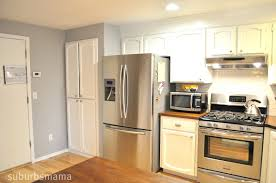 Painting Pine Kitchen Cabinets by Suburbs Mama Painting Our Kitchen Cabinets