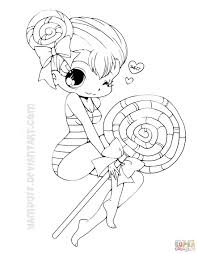 chibi lollipop coloring page free printable coloring pages