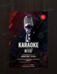 get karaoke night flyer template psd flyershitter com