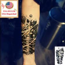 tattoo 3d mechanical 3d large mechanical arm waterproof transfer temporary tattoo body