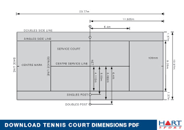 Table Tennis Dimensions Table Tennis Court Diagram Periodic Tables