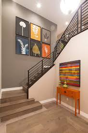 chinese console table staircase contemporary with wall art bold