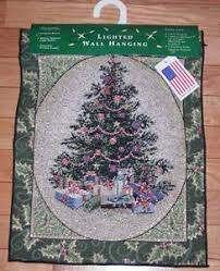 tree lighted tapestry bannerette wall hanging ebay
