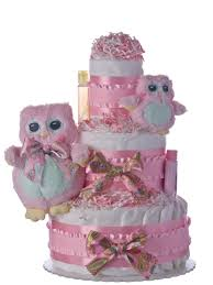 lil u0027 baby cakes two owls 3 tier diaper cake