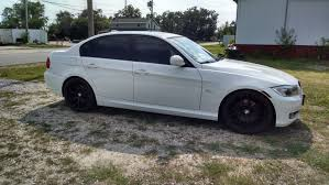 matte white bmw 328i e9x 2009 alpine white 328i 53k wheels lowered lights tint
