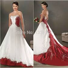Red And White Wedding Dresses Aliexpress Com Buy Cheap Red And White Wedding Dresses 2016 New