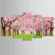 Cherry Blossom Home Decor Online Get Cheap Canvas Flower Road Aliexpress Com Alibaba Group