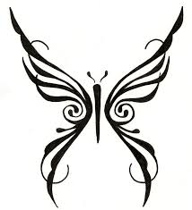 free butterfly tribal designs free clip free clip