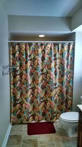 shower curtain covington whimsy paisley size 72x72 multi color