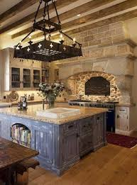 old world kitchen old world kitchen room style with beams and large hood with stone