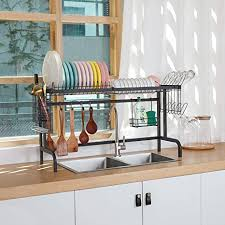what size cabinet above sink x cosrack the sink dish drying rack above sink kitchen drainer rack for kitchen supplies organizer storage space saver shelf with 5 utility hooks