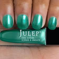 julep nail polish phoebe new vegan blue green metallic chrome finish