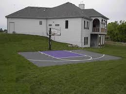 Backyard Basketball Hoops Recreational Courts Versasport Of Kansas Backyard Basketball Court
