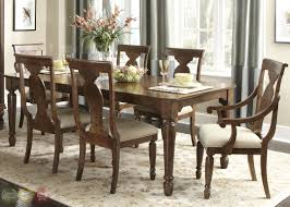 Antique Dining Room Sets Brown Finishing Teak Solids Wood Rectangle Shaped Dinette Formal
