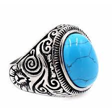 design modeschmuck herrn damen ring türkis basis einzigartiges design modeschmuck