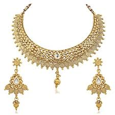 necklace design images Buy reeva apara exquisite golden jalebi design necklace set with jpg