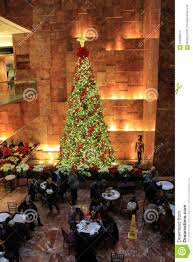 Trump Tower Interior Beautiful Christmas Tree Inside Trump Towers Nyc 2015 Editorial