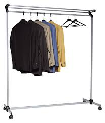 traditional rolling coat rack steel construction black powder