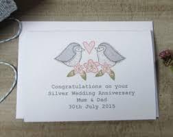 silver wedding card etsy