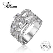 sterling silver wedding gifts buy jewelrypalace luxurious wide band cocktail ring for