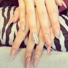 rhinestone u0026 stiletto nails nails pinterest nails