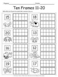 fall ten frame printables math numbers counting pinterest