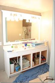 Large Bathroom Mirror With Lights Bathroom Lighting Framing A Large Bathroom Mirror Thumb Mirrors