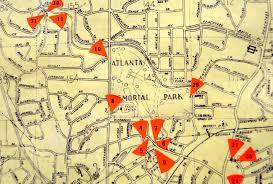 Map Of Atlanta The 1980 Atlanta Map Project Cara Caravan Art Blog