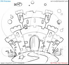 great underwater castle coloring page with underwater coloring