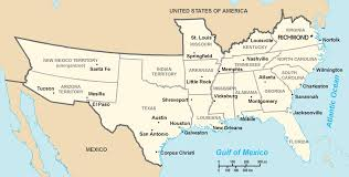 Mexico Map 1800 Animated History Of The Confederate States Of America 1860 1870