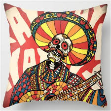 Day Of The Dead Bedding Mariachi Design Day Of The Dead Sugar Skull Pillow U2013 Sugar Skull