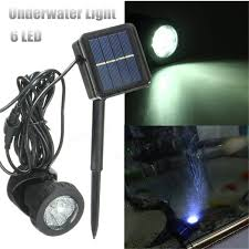 Submersible Pond Lights Solar Power Submersible Underwater Lamp Led Light Garden Fountain